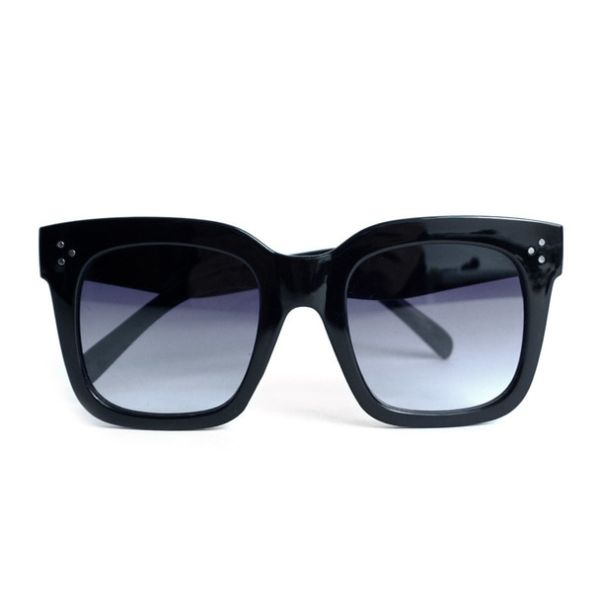 Designer Inspired Ladies Sunglasses-Large Black-Daily Steals