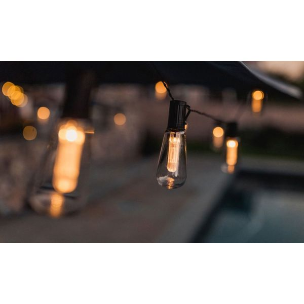 LUMINITES 20' Edison Solar LED Patio Lights-Daily Steals