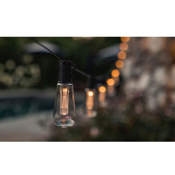 LUMINITES 20' Edison Solar LED Patio Lights-1-Pack-Daily Steals