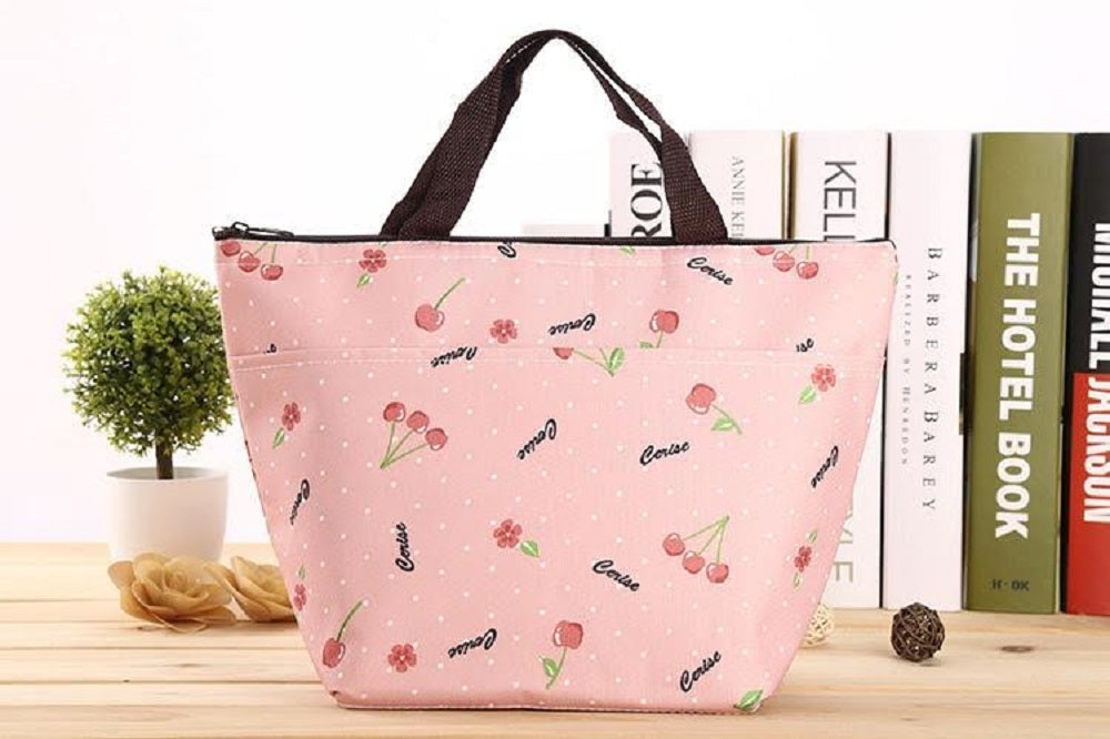 Insulated Lunch Bag – Assorted Styles-Cherry-Daily Steals