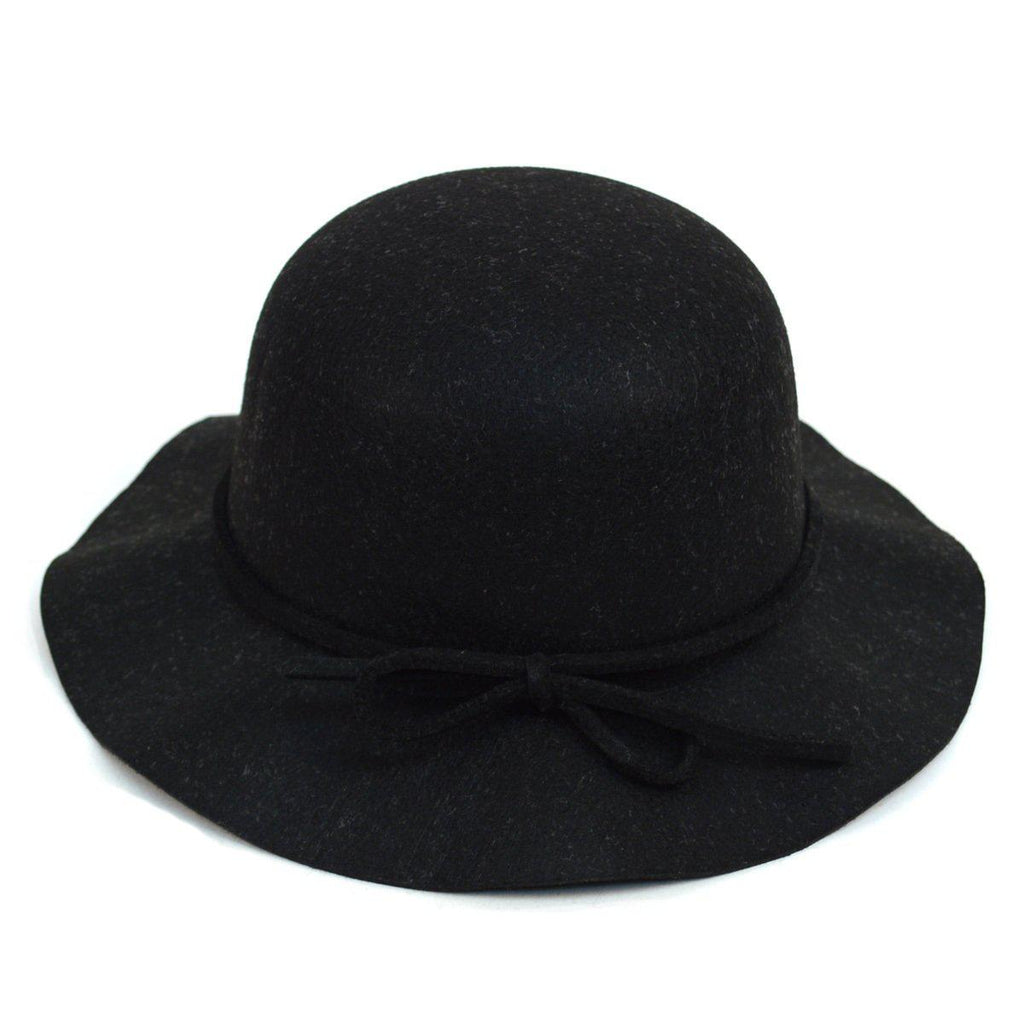 Women's Felt Floppy Short Brim Bowknot Hat - 6 Colors Available-Black-Daily Steals