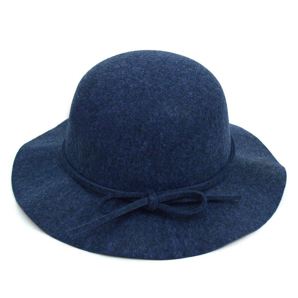 Women's Felt Floppy Short Brim Bowknot Hat - 6 Colors Available-Blue-Daily Steals