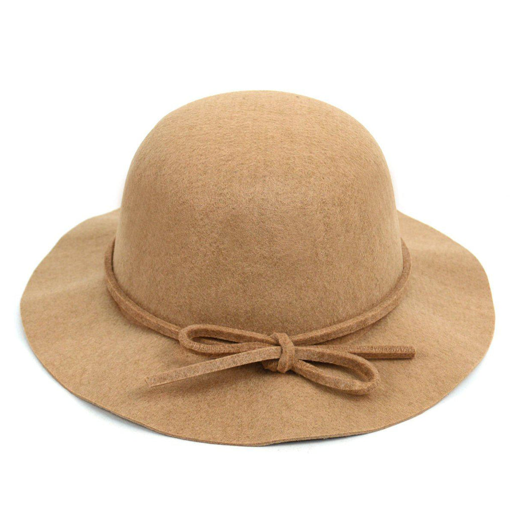 Women's Felt Floppy Short Brim Bowknot Hat - 6 Colors Available-Camel-Daily Steals