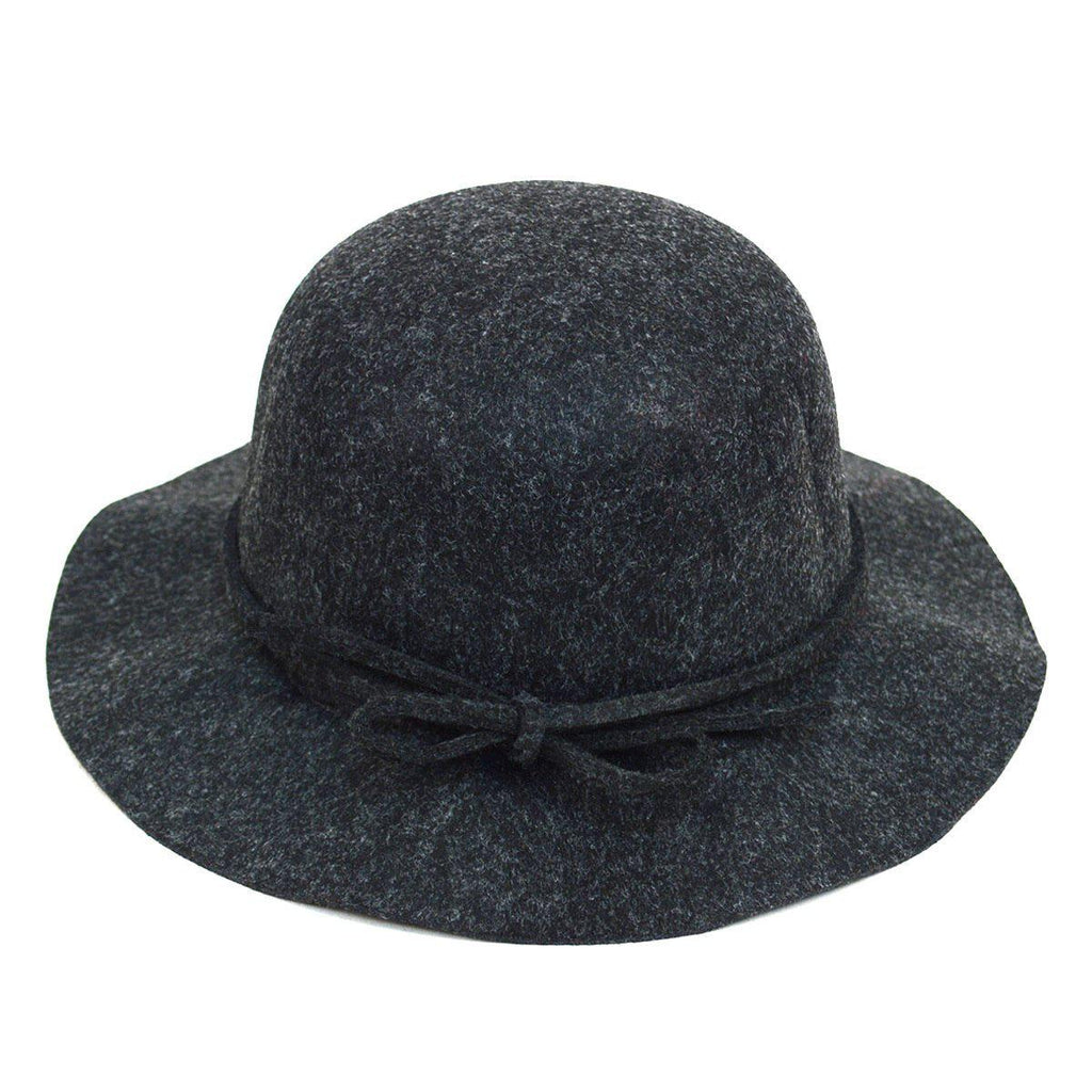 Women's Felt Floppy Short Brim Bowknot Hat - 6 Colors Available-Charcoal-Daily Steals