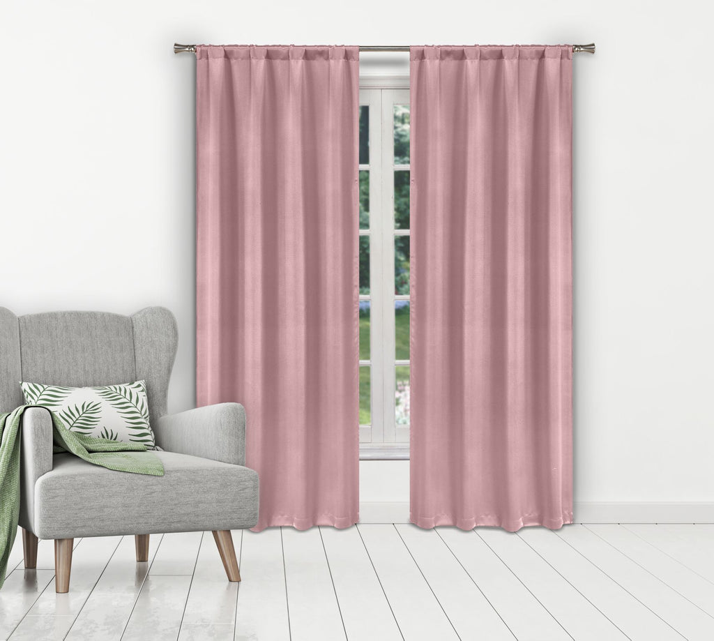 Solid Room-Darkening Double-Layered Window Panels (2-Pack)-Blush-Daily Steals