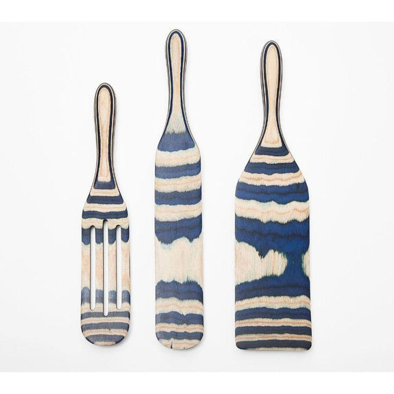 Mad Hungry 3-PC Pakka Wood Spurtle Set-Blue-Daily Steals