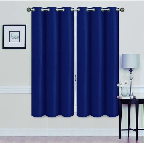 "Foam-Backed 76"" x 63"" Blackout Grommet Panels-NAVY BLUE-Daily Steals"