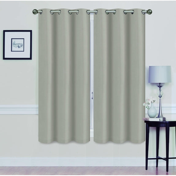"Foam-Backed 76"" x 63"" Blackout Grommet Panels-SILVER-Daily Steals"