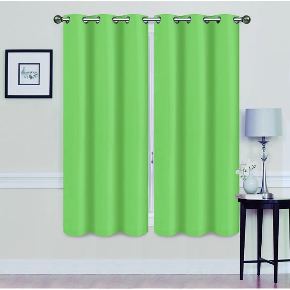 "Foam-Backed 76"" x 63"" Blackout Grommet Panels-SAGE-Daily Steals"