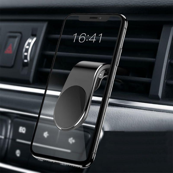 Magnetic Vent Phone Holder- 2 Pack-Black-