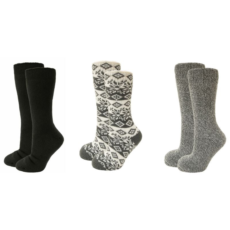 Clear Creek Women's or Men's Thermal Heat Socks - 2 Pack