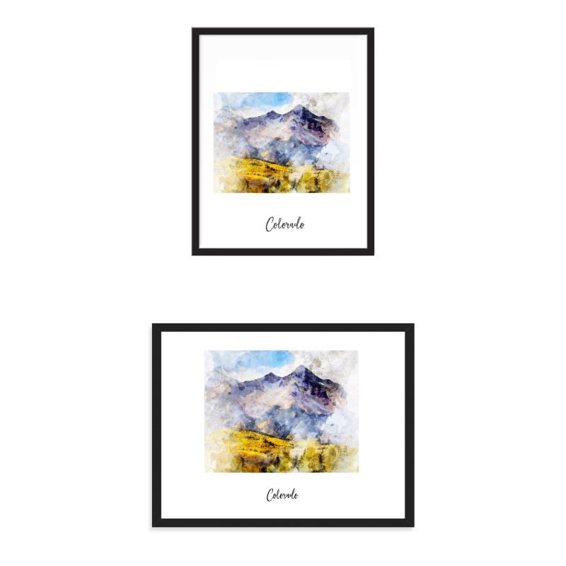Colorado Watercolor Map Print - Unframed Art Print-Daily Steals