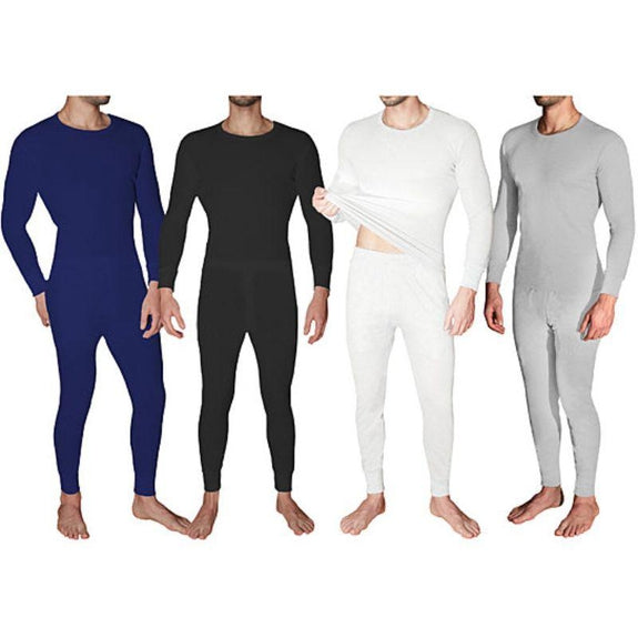 2-Piece Men's Super Soft 100% Cotton Waffle Knit Thermal Underwear Set-Daily Steals