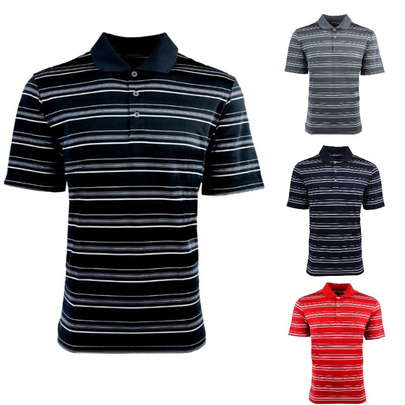 adidas Men's Puremotion Textured Stripe Polo-Daily Steals