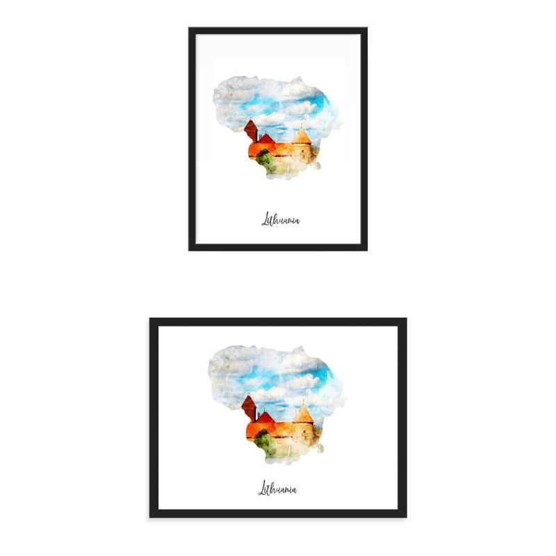 Louisiana Watercolor Map Print - Unframed Art Print-Daily Steals