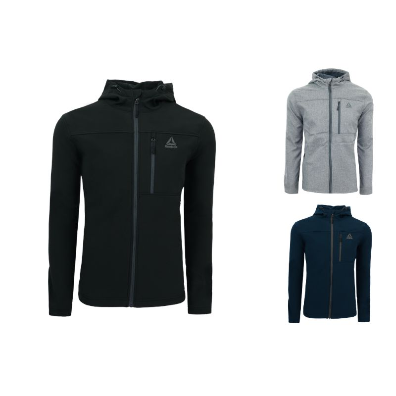 Reebok Men's Hooded Softshell Jacket-Daily Steals