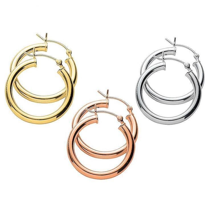 Classic Polished 3 Pair Hoop Earrings Set-Daily Steals