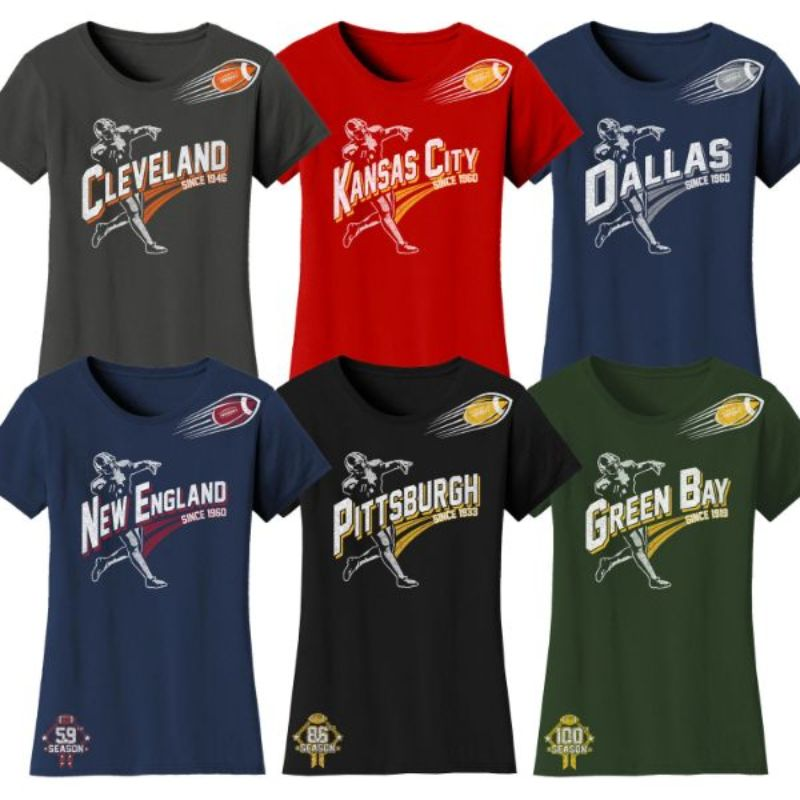 Women's Football Season T-Shirts-Daily Steals