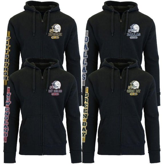 Women's Game Day Football Zip Up Hoodie-Daily Steals