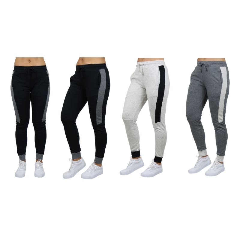 Women's Slim-Fit French Terry Joggers With Contrast Trim-Daily Steals