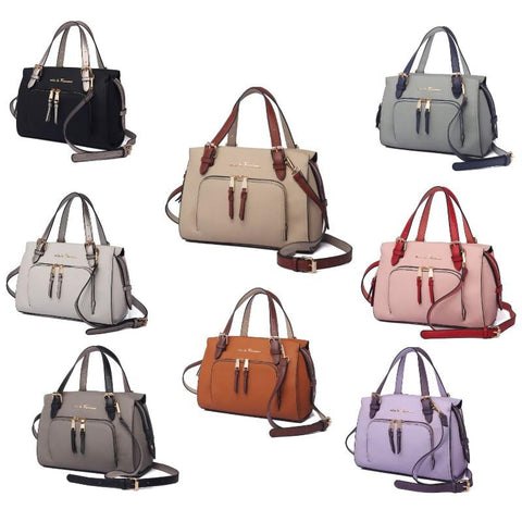 Daily Steals-Maisie Satchel Handbag by MKF-Accessories-Beige-