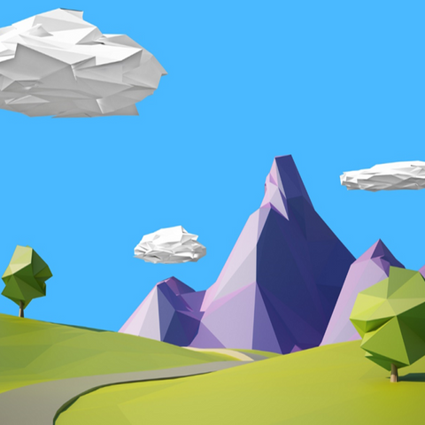Make Low Poly 3D Environment Models in Blender and Unity-