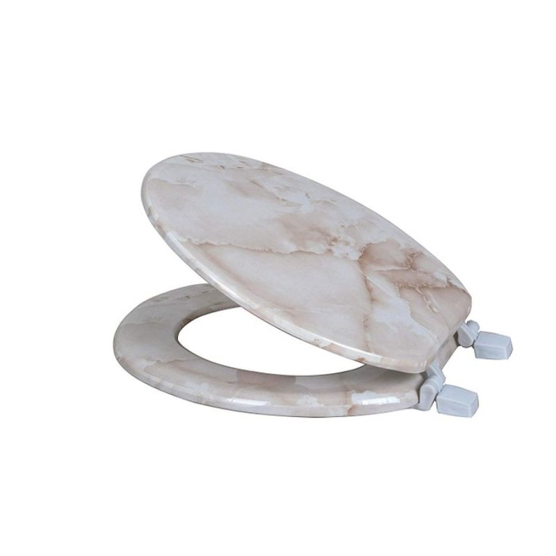 Marble Print Toilet Seats-BEIGE-Daily Steals