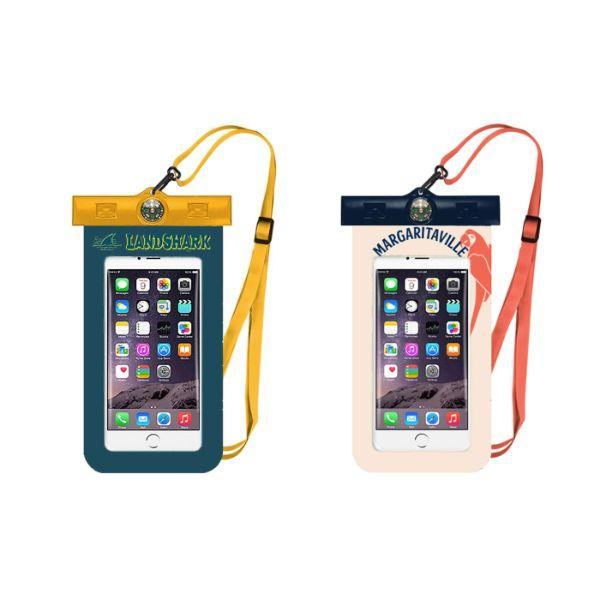 Daily Steals-Margaritaville & Landshark Waterproof Smartphone Pouch with Compass - 2 Pack-Cell and Tablet Accessories-