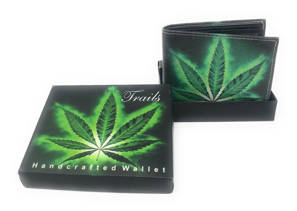 Bifold Wallets With Printed Designs - Comes in Gift Box-MARIJUANA LEAF-Daily Steals