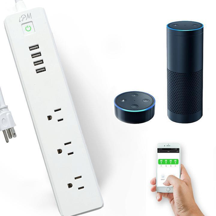 Smart Home Power Strip with Wi-Fi - Works with Alexa & Google Home-Daily Steals
