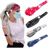Multiuse Unisex Headband with Button-Set of 2-Daily Steals