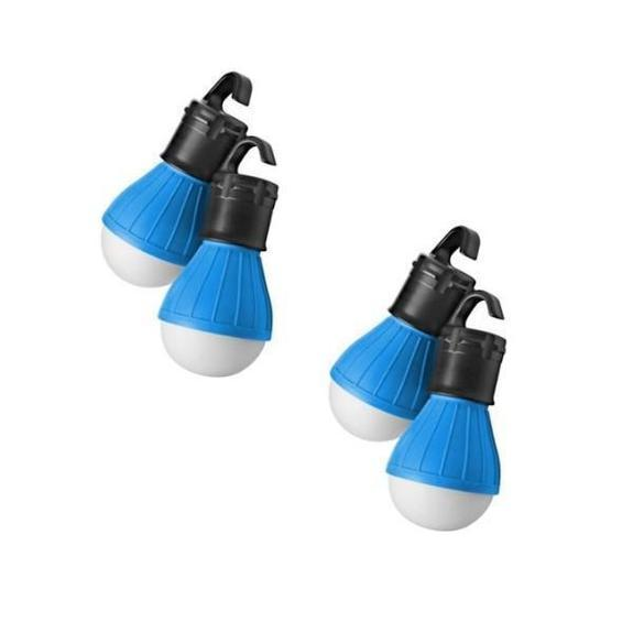 Daily Steals-Massimo Emergency Light Bulbs-Home and Office Essentials-Blue-4-Pack-