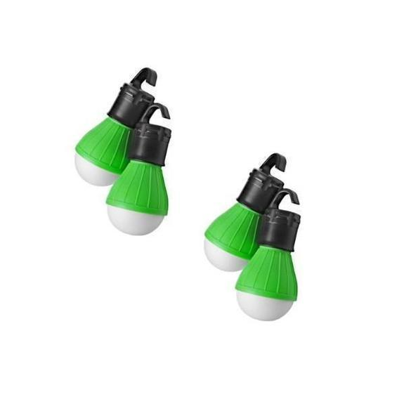 Daily Steals-Massimo Emergency Light Bulbs-Home and Office Essentials-Green-4-Pack-