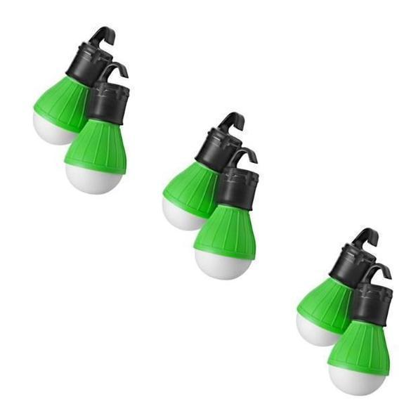 Daily Steals-Massimo Emergency Light Bulbs-Home and Office Essentials-Green-6-Pack-