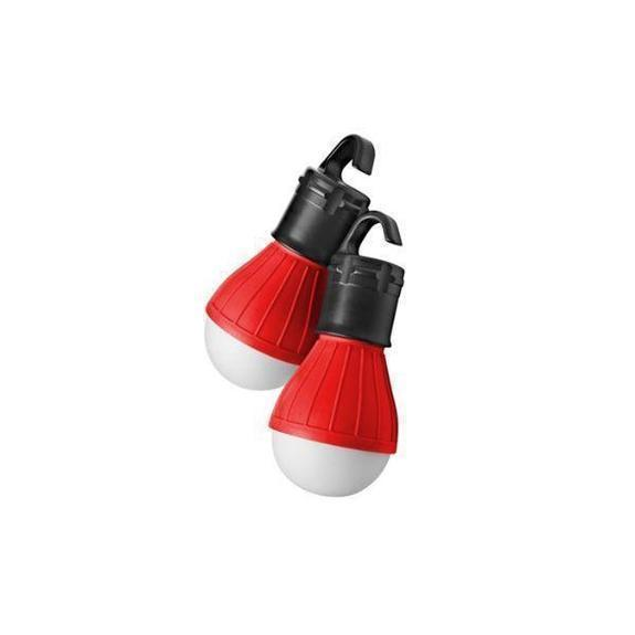 Daily Steals-Massimo Emergency Light Bulbs-Home and Office Essentials-Red-2-Pack-
