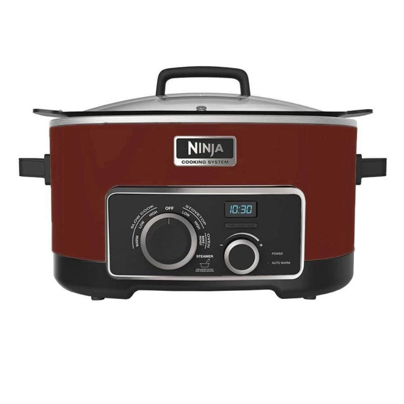 Ninja 4-in-1 Cooking System-Red-Daily Steals