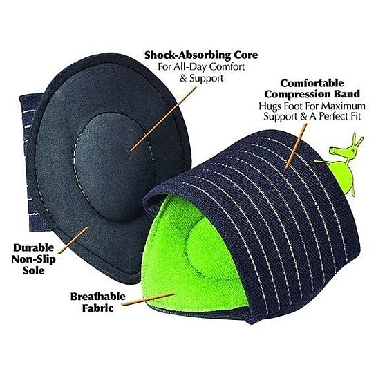 [3-Pack] Plantar Fasciitis Cushioned Arch Supports-Daily Steals