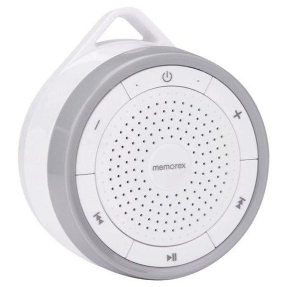 Memorex IPX7 Splashproof Speaker FM Radio, Li-ion battery, Mic & Audio-Gray-