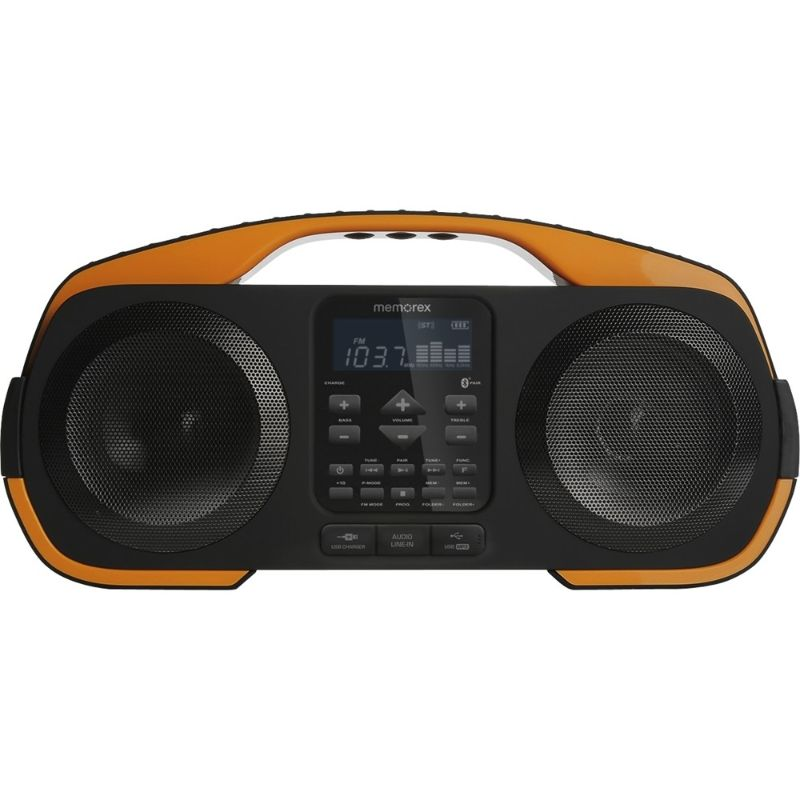 Memorex Beach Bluetooth Boombox - Black/Orange