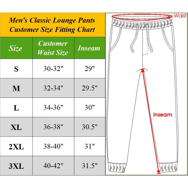 Men's Assorted Classic Lounge Pants - 3 Pack