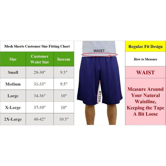 Men's Assorted Active Mesh Shorts - 5 Pack-Daily Steals