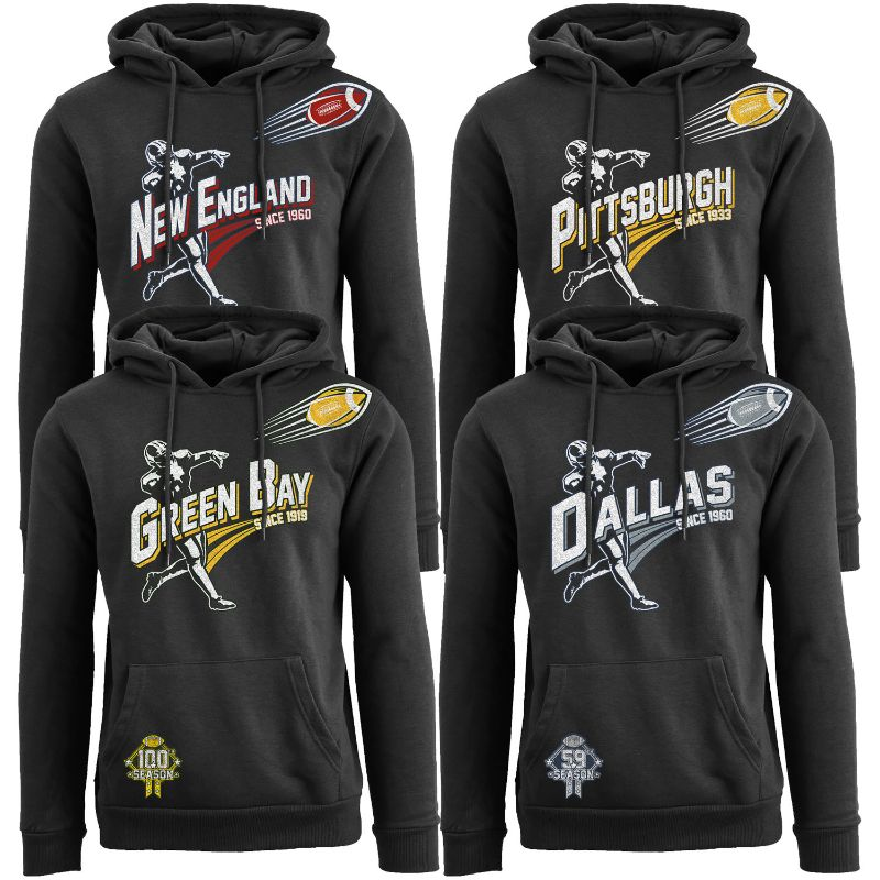 Men's Ballers Football Pull Over Hoodie-Daily Steals