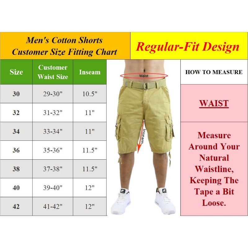 Men's Cotton Chino Shorts with Belt - 2 Pack-Daily Steals