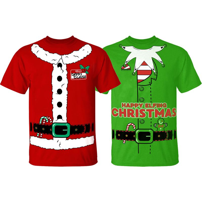 Men's Funny Christmas Suit T-Shirts-Daily Steals