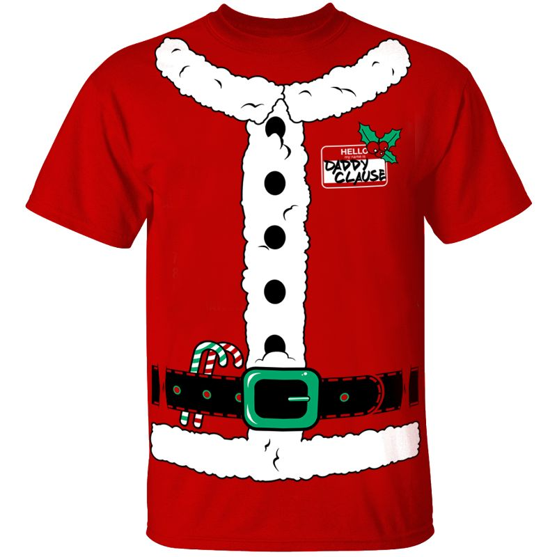 Men's Funny Christmas Suit T-Shirts-Santa Suit - Red-S-Daily Steals