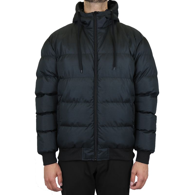 Men's Heavyweight Bubble Bomber Jacket-Black-Small-Daily Steals