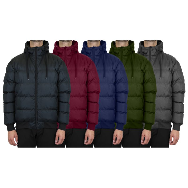 Men's Heavyweight Bubble Bomber Jacket-Daily Steals