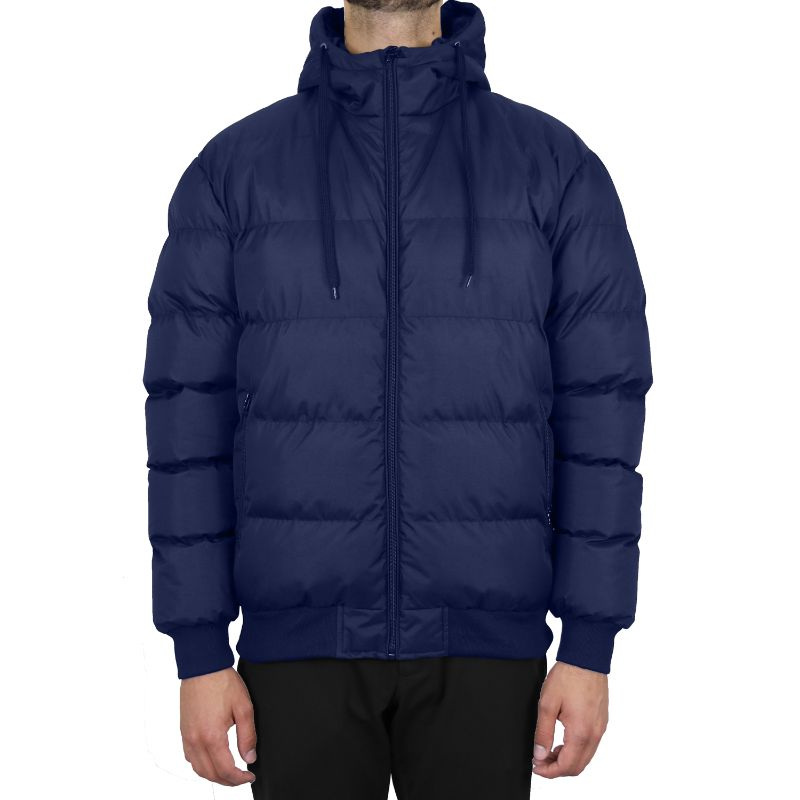 Men's Heavyweight Bubble Bomber Jacket-Navy-Small-Daily Steals