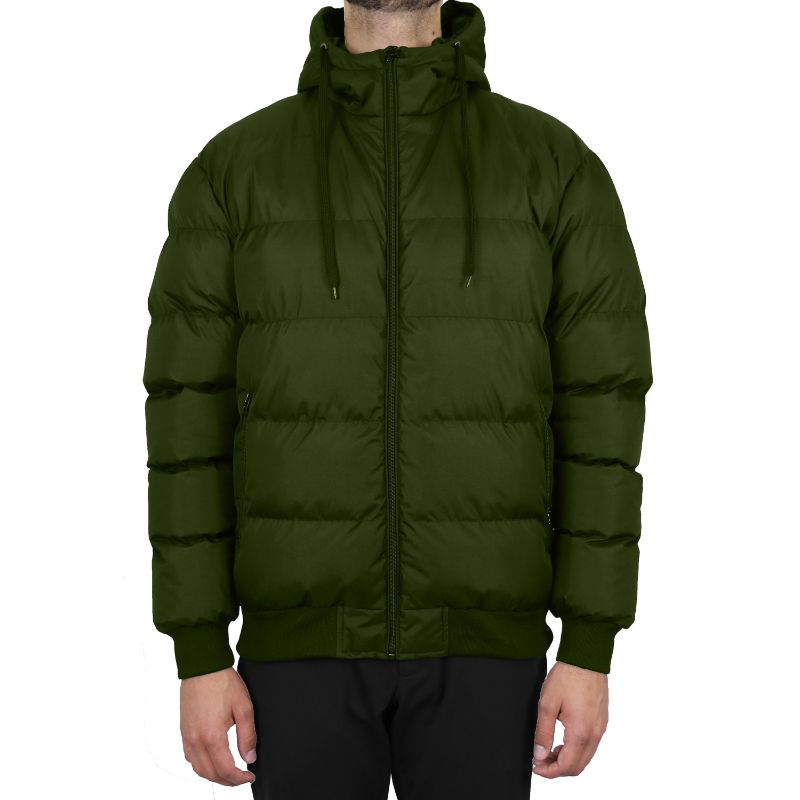 Men's Heavyweight Bubble Bomber Jacket-Olive-Small-Daily Steals