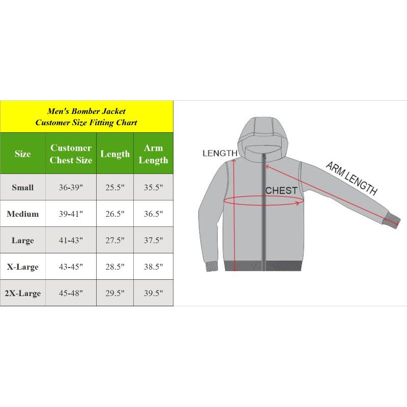 Men's Heavyweight Classic Hooded Windproof Bomber Jacket-Daily Steals